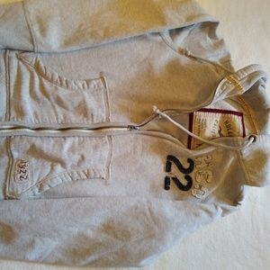 Gray Hollister Hooded Sweatshirt